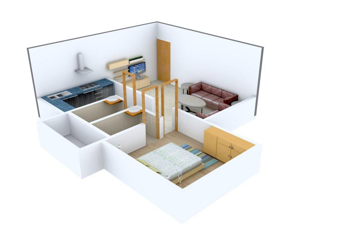 GSA Constructions GSA Serene Floor Plan: 1 BHK Unit with Built up area of 521 sq.ft 2