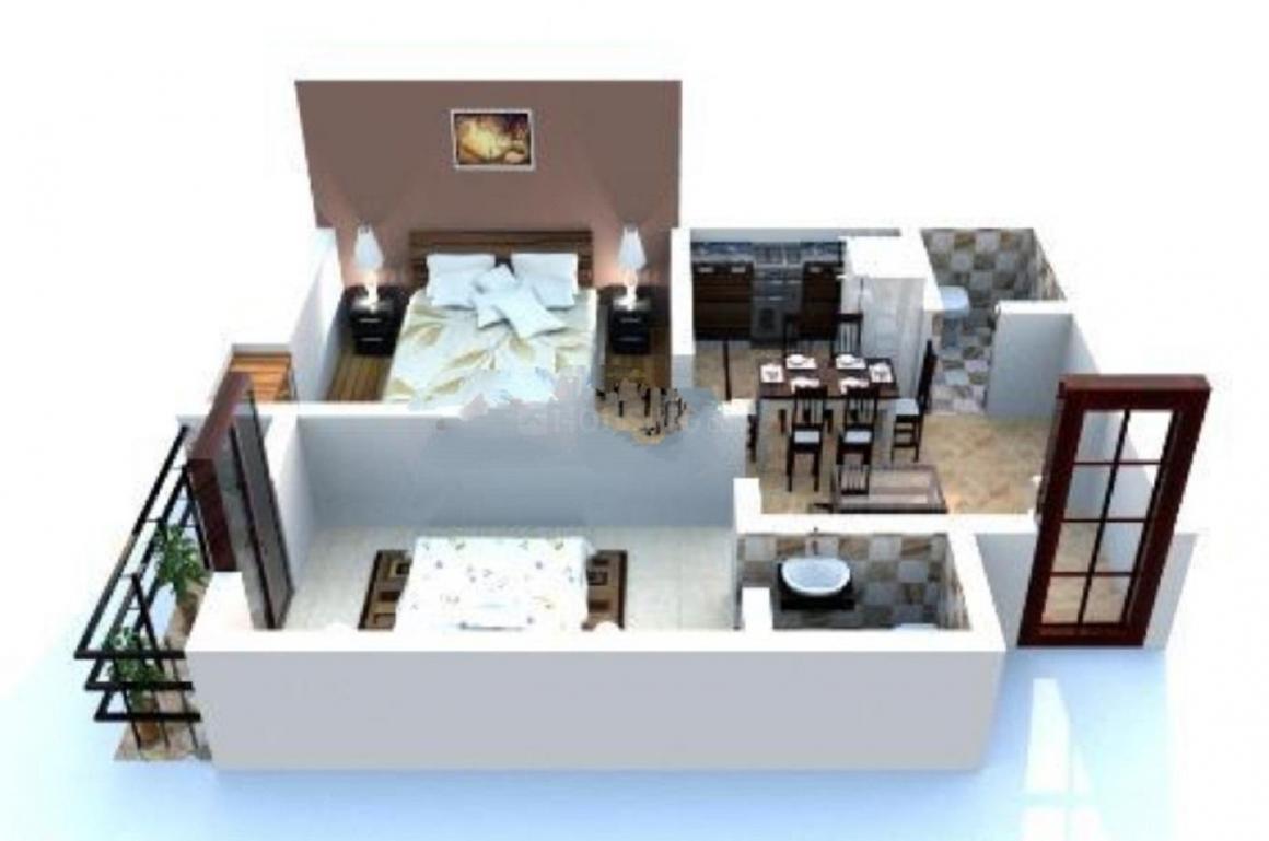 Unique Vinayak Bhawan Floor Plan: 2 BHK Unit with Built up area of 775 sq.ft 1