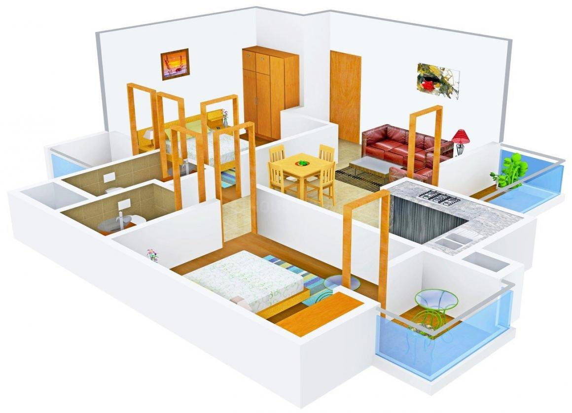 Floor Plan Image of 995.0 - 2195.0 Sq.ft 2 BHK Apartment for buy in Shubhkamna Tec Homes
