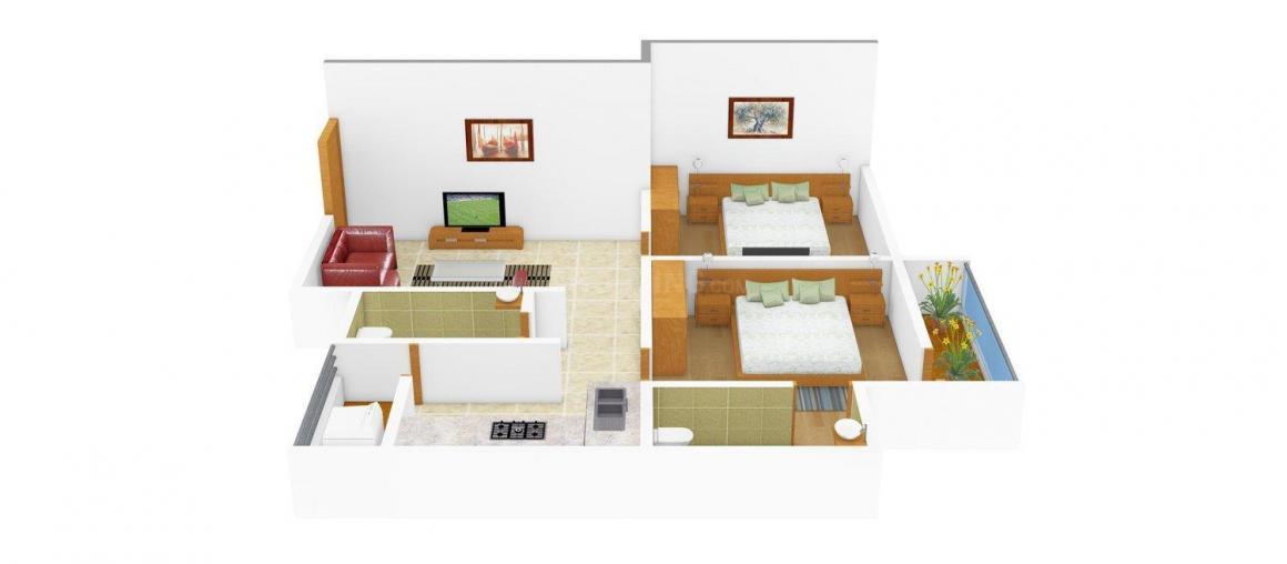 Floor Plan Image of 750.0 - 835.0 Sq.ft 2 BHK Apartment for buy in Neel Vihar E
