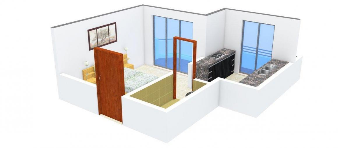 Floor Plan Image of 425.0 - 670.0 Sq.ft 1 BHK Apartment for buy in Hari Om Mahi Park