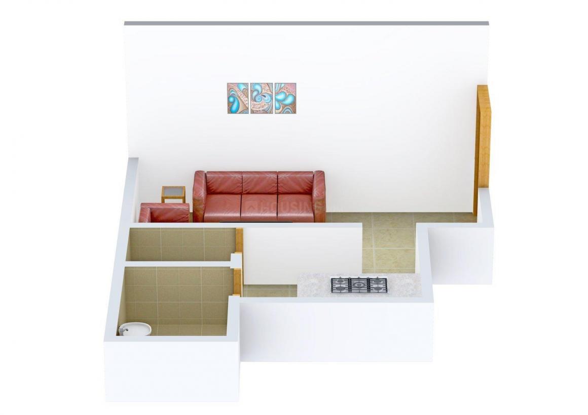 Amber Sai Ashirwad Apartment Floor Plan: 1 BHK Unit with Built up area of 400 sq.ft 1