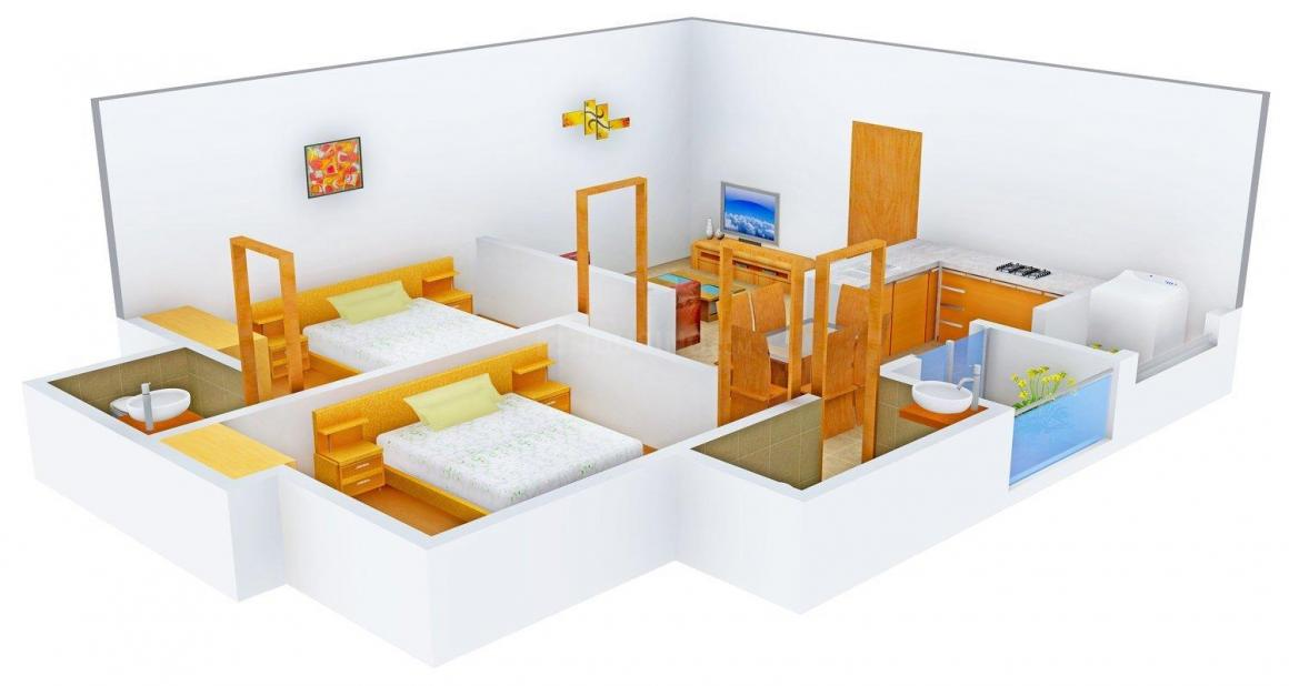Floor Plan Image of 1008.0 - 1785.0 Sq.ft 2 BHK Apartment for buy in Abhi Svarna Residency