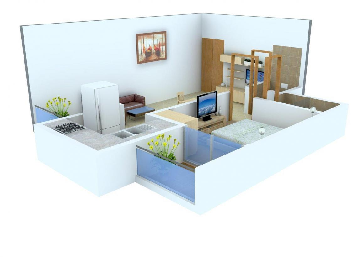 Floor Plan Image of 400.0 - 1600.0 Sq.ft 1 BHK Apartment for buy in Apex Heights