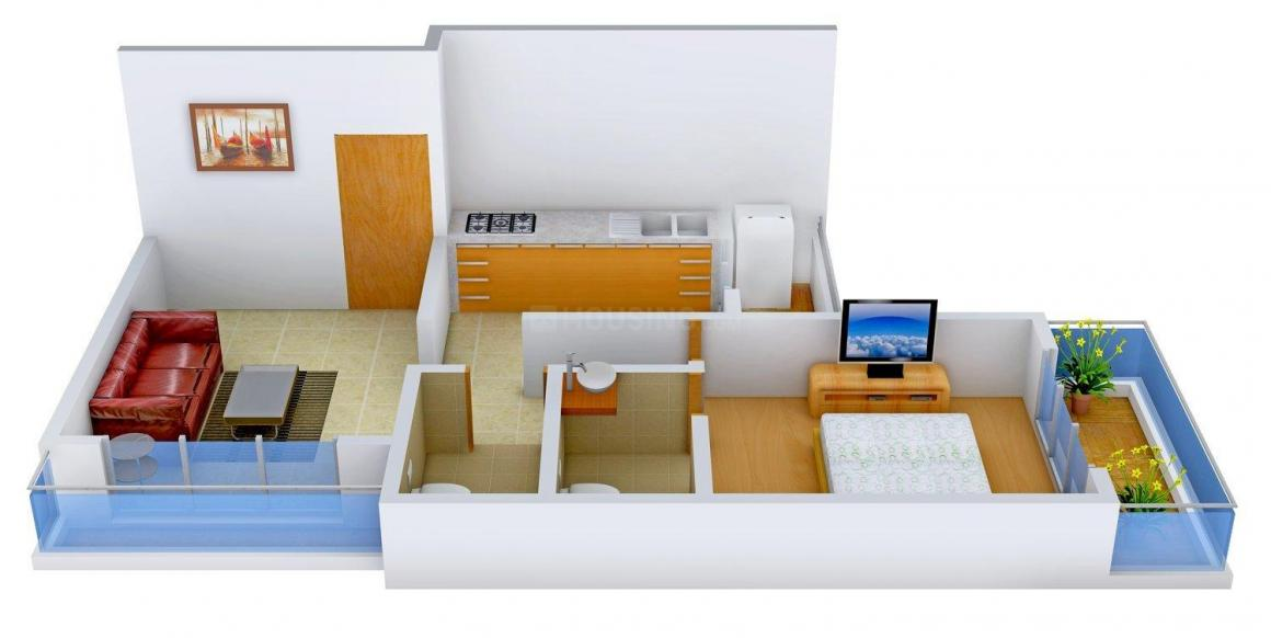 Floor Plan Image of 701.0 - 920.0 Sq.ft 1 BHK Apartment for buy in Shree Samarth Viscaria
