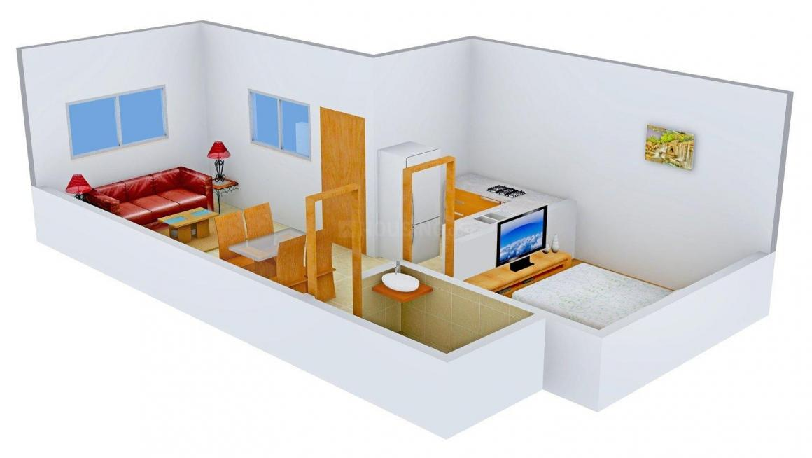 Uphaar Homes Floor Plan: 1 BHK Unit with Built up area of 450 sq.ft 1