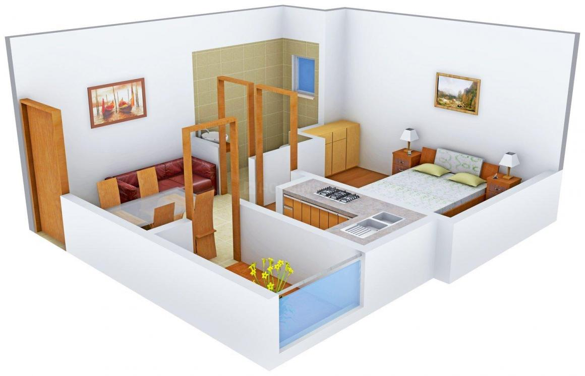 Floor Plan Image of 444 - 1032 Sq.ft 1 BHK Apartment for buy in Modern Infra Swapnlok