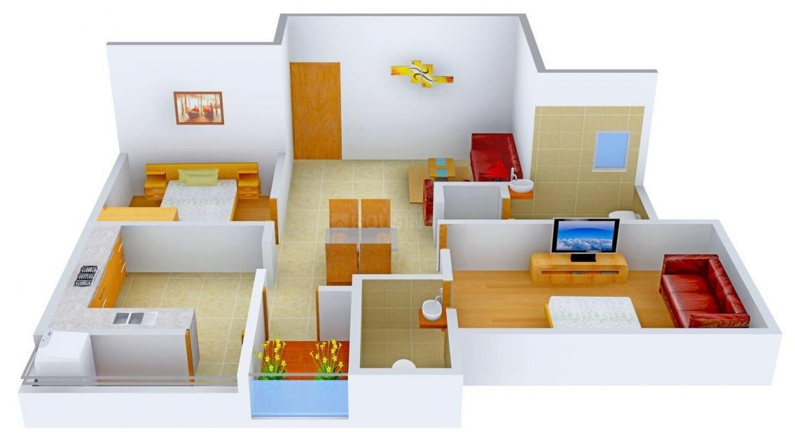 Floor Plan Image of 1145.0 - 1665.0 Sq.ft 2 BHK Apartment for buy in Abhinitha Vikas Flora