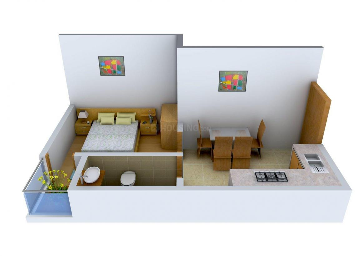 Floor Plan Image of 480.0 - 946.0 Sq.ft 1 BHK Apartment for buy in 105, Sarsuna Main Road