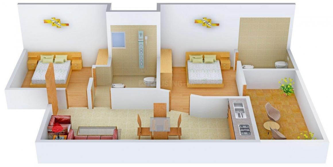 Floor Plan Image of 0 - 1080 Sq.ft 2 BHK Villa for buy in Shri Radha Golf