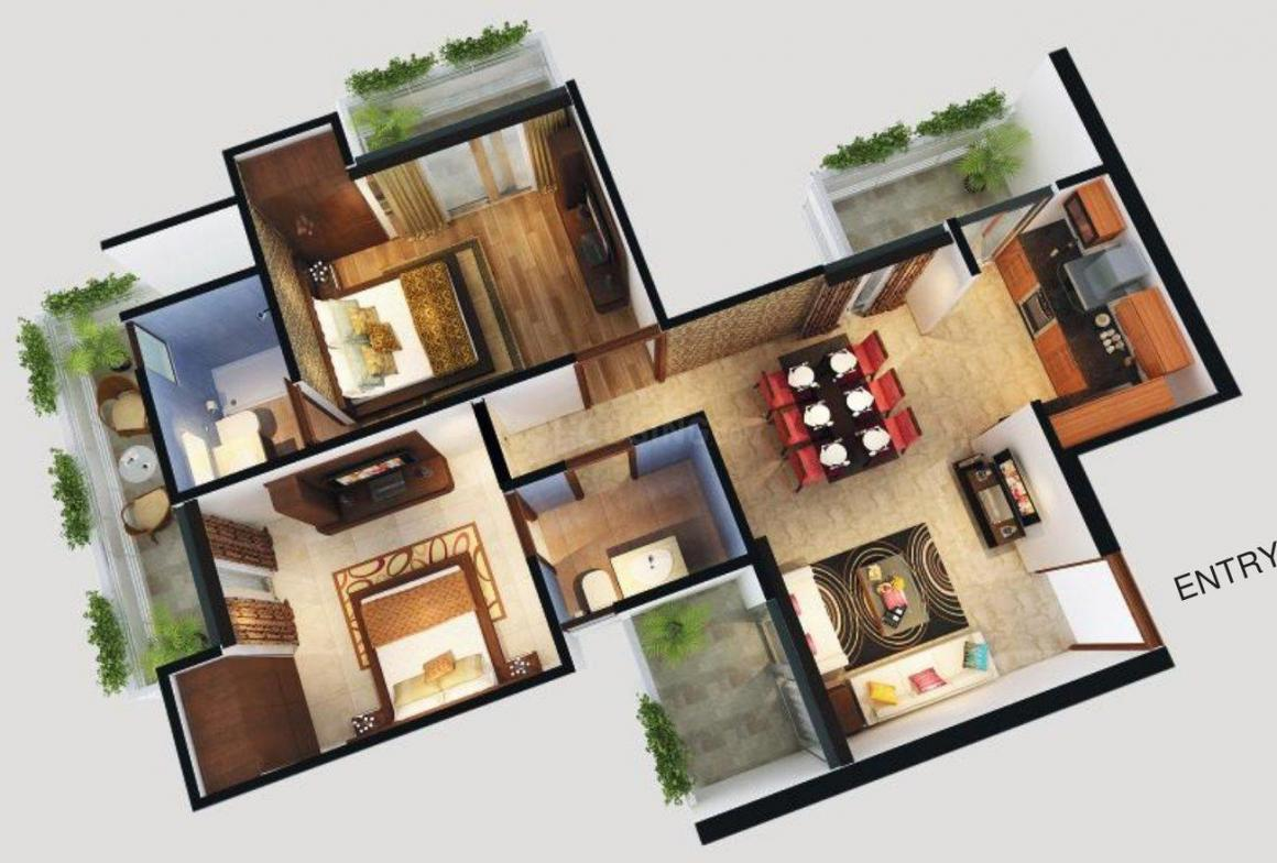 Sports Home Floor Plan: 2 BHK Unit with Built up area of 1140 sq.ft 1