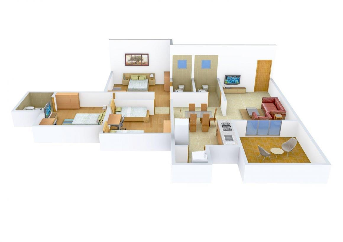 Floor Plan Image of 0 - 1357.0 Sq.ft 3 BHK Apartment for buy in Aaroh Dwelling