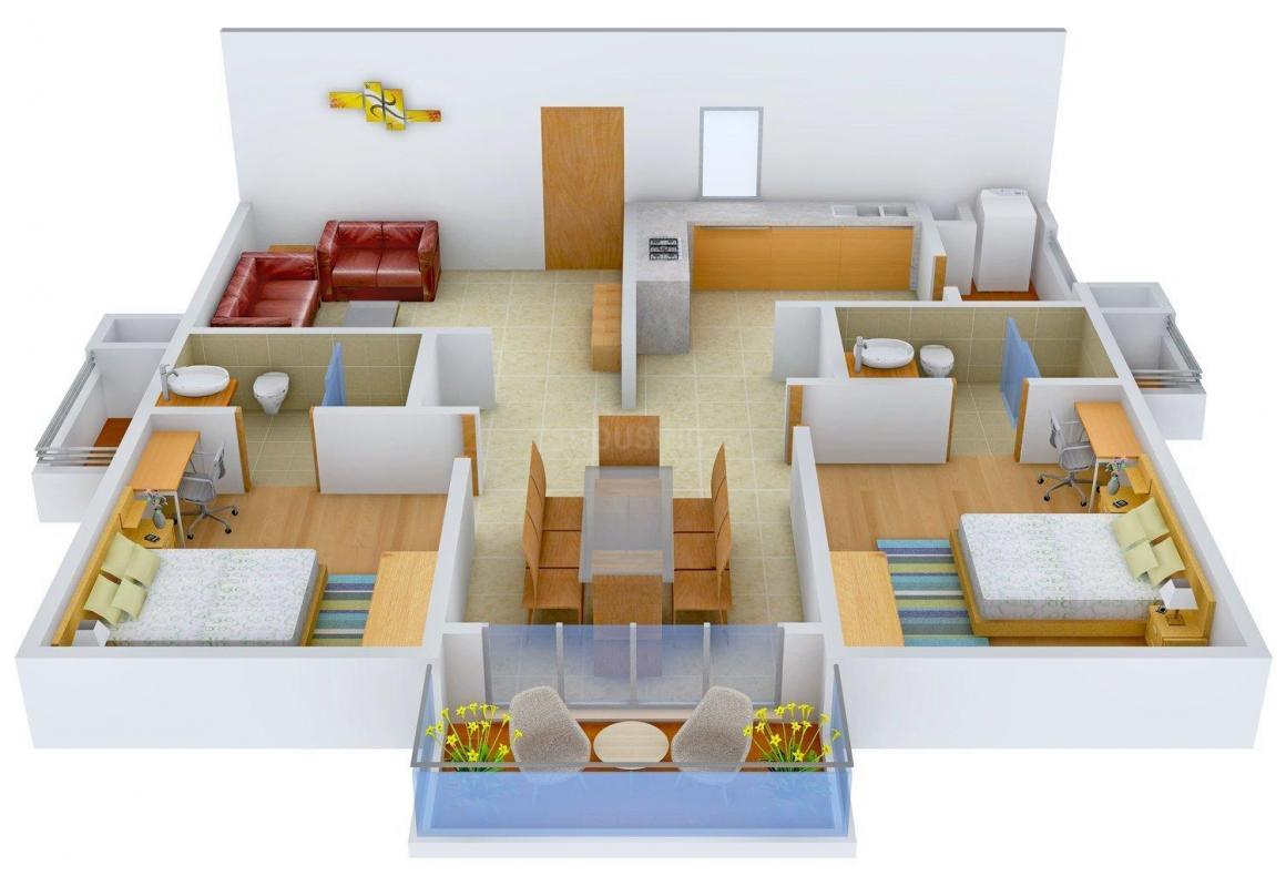 Floor Plan Image of 1295.0 - 2250.0 Sq.ft 2 BHK Apartment for buy in Aparna Serene Park