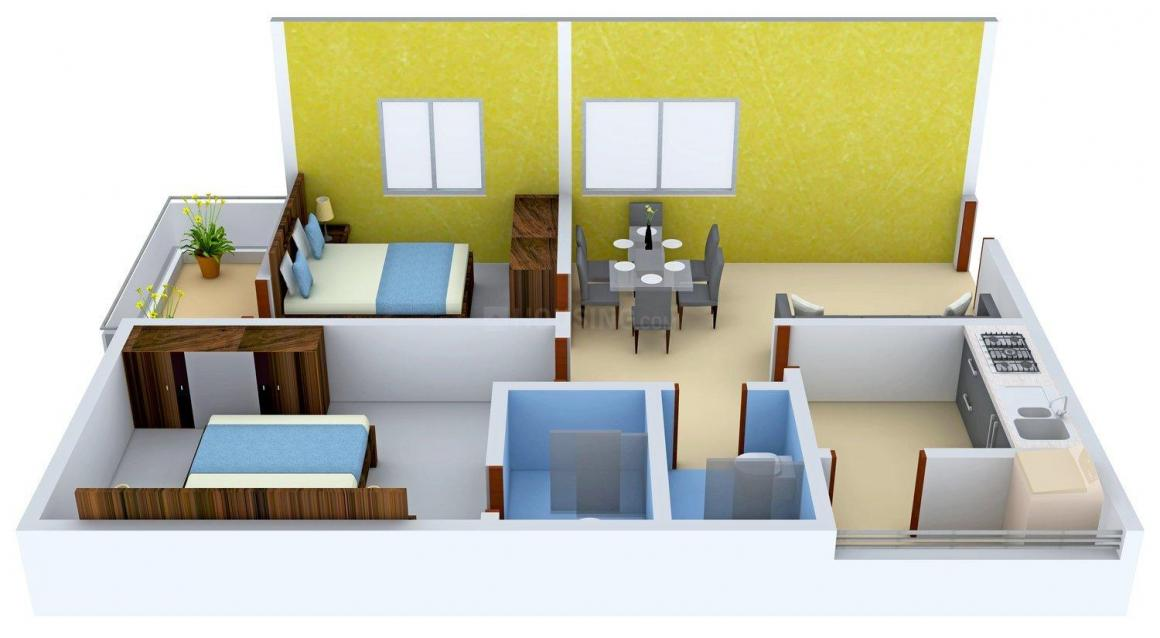 Floor Plan Image of 893 - 1600 Sq.ft 2 BHK Apartment for buy in Rami Mahadev Towers