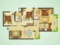 Sare Green Parc Floor Plan: 3 BHK Unit with Built up area of 1180 sq.ft 1
