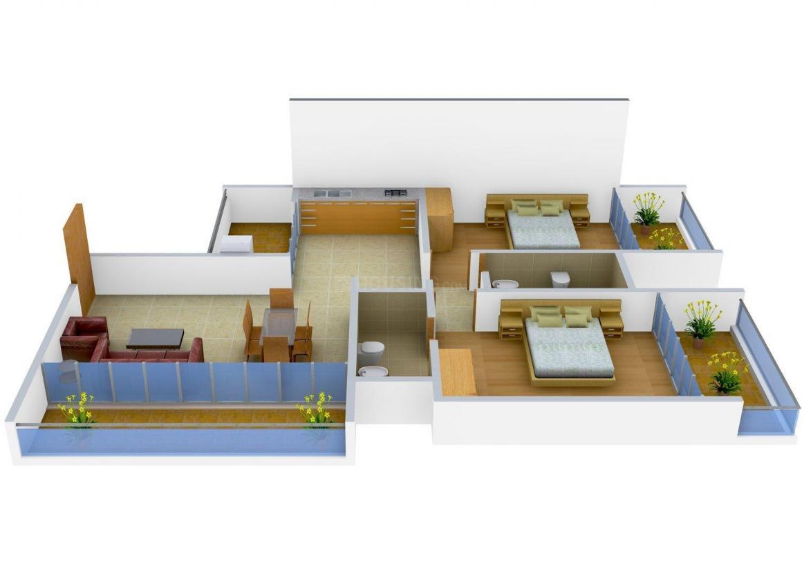 Floor Plan Image of 0 - 1163 Sq.ft 2 BHK Apartment for buy in Prabhudessai Regalia