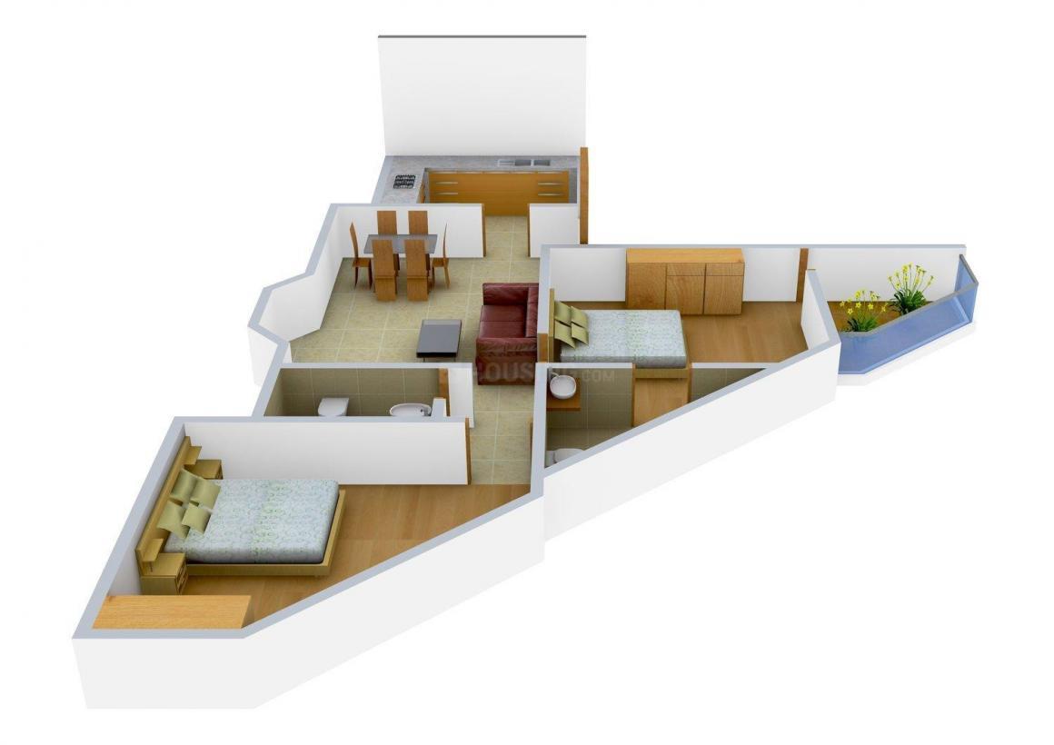 Floor Plan Image of 920.0 - 1164.0 Sq.ft 2 BHK Independent Floor for buy in KSM Golden Nest