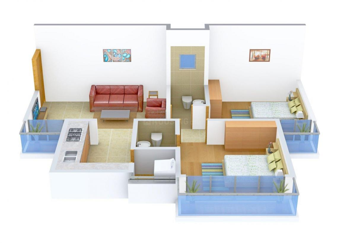 Floor Plan Image of 909 - 1089 Sq.ft 2 BHK Apartment for buy in SNKJ Siddharth Status