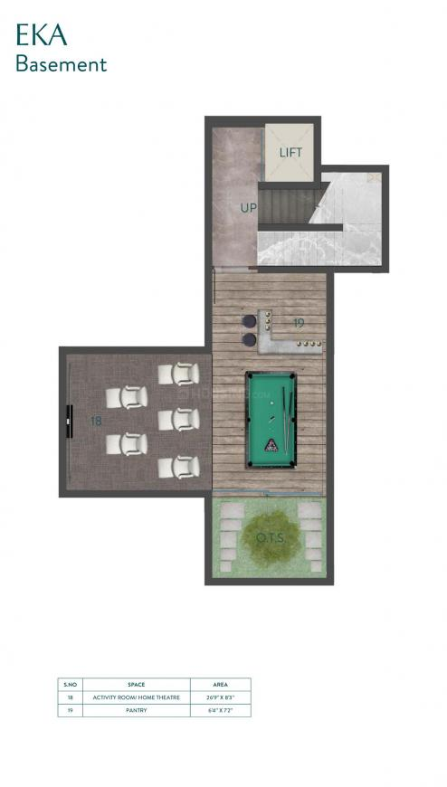 Aravalli Floor Plan: 4 BHK Unit with Built up area of 855 sq.yd 1