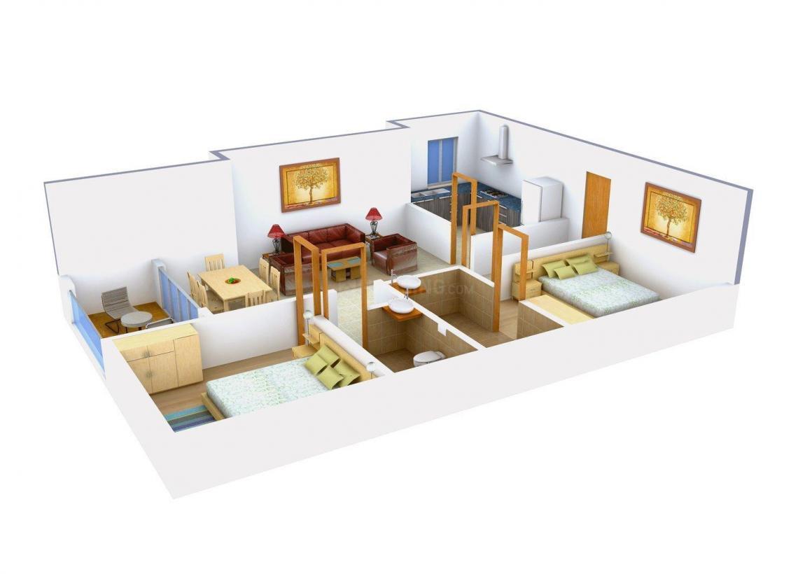 Floor Plan Image of 980 - 1602 Sq.ft Studio Studio Apartment for buy in Sandhu Ekam Park View