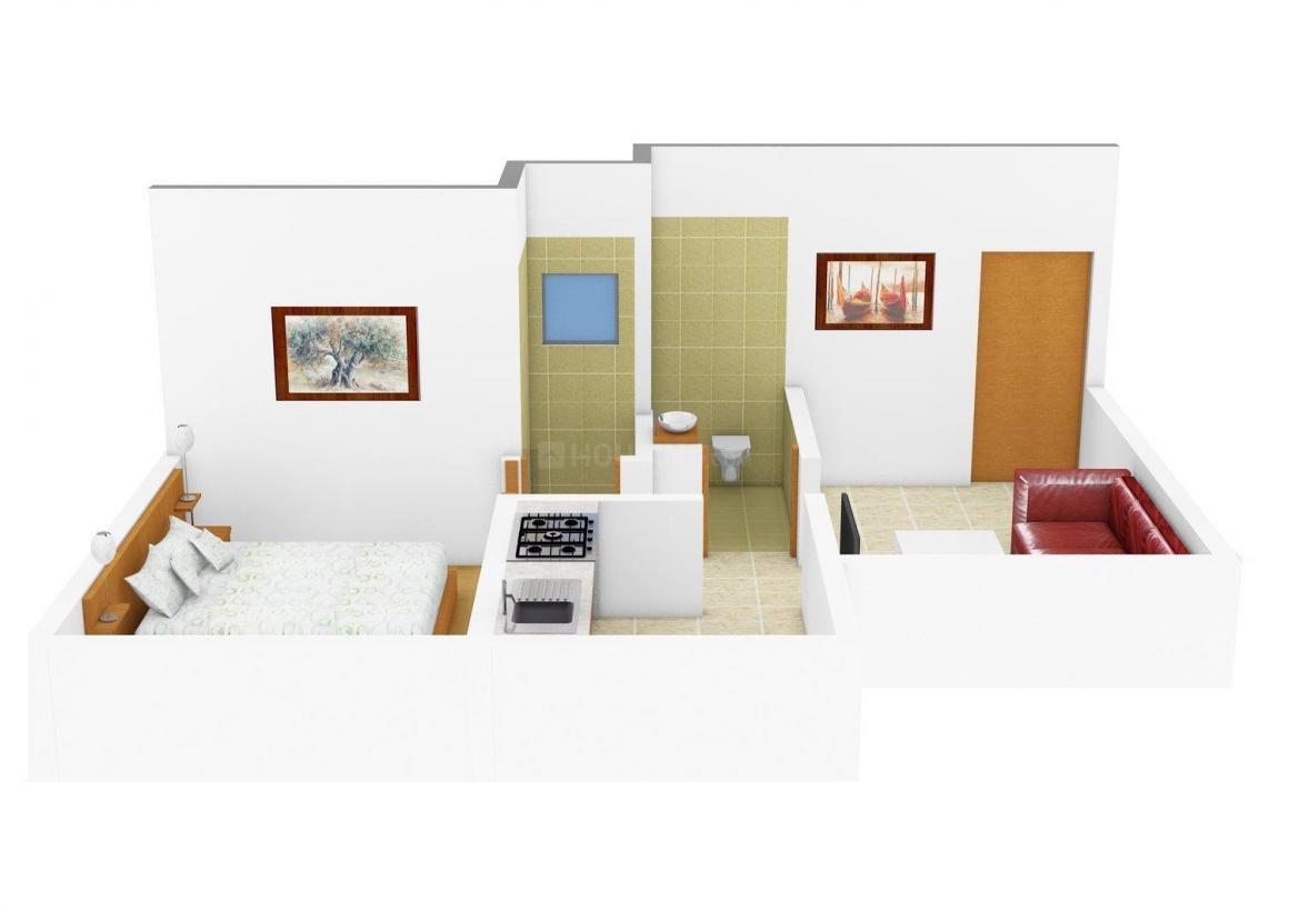 Floor Plan Image of 555.0 - 915.0 Sq.ft 1 BHK Apartment for buy in Shubh Realtors Shree Residency
