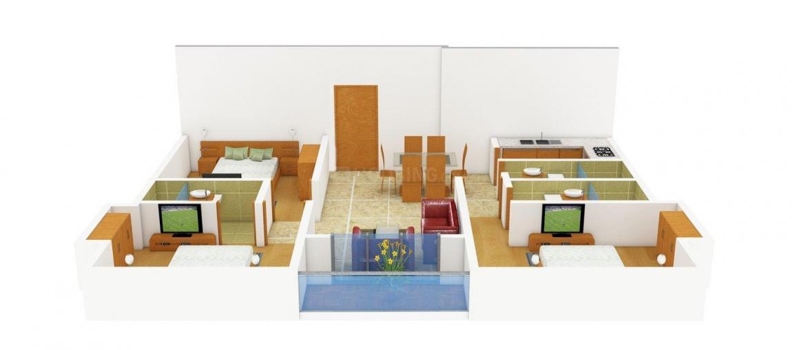 Floor Plan Image of 1325.0 - 1430.0 Sq.ft 3 BHK Apartment for buy in Abira Vitaj