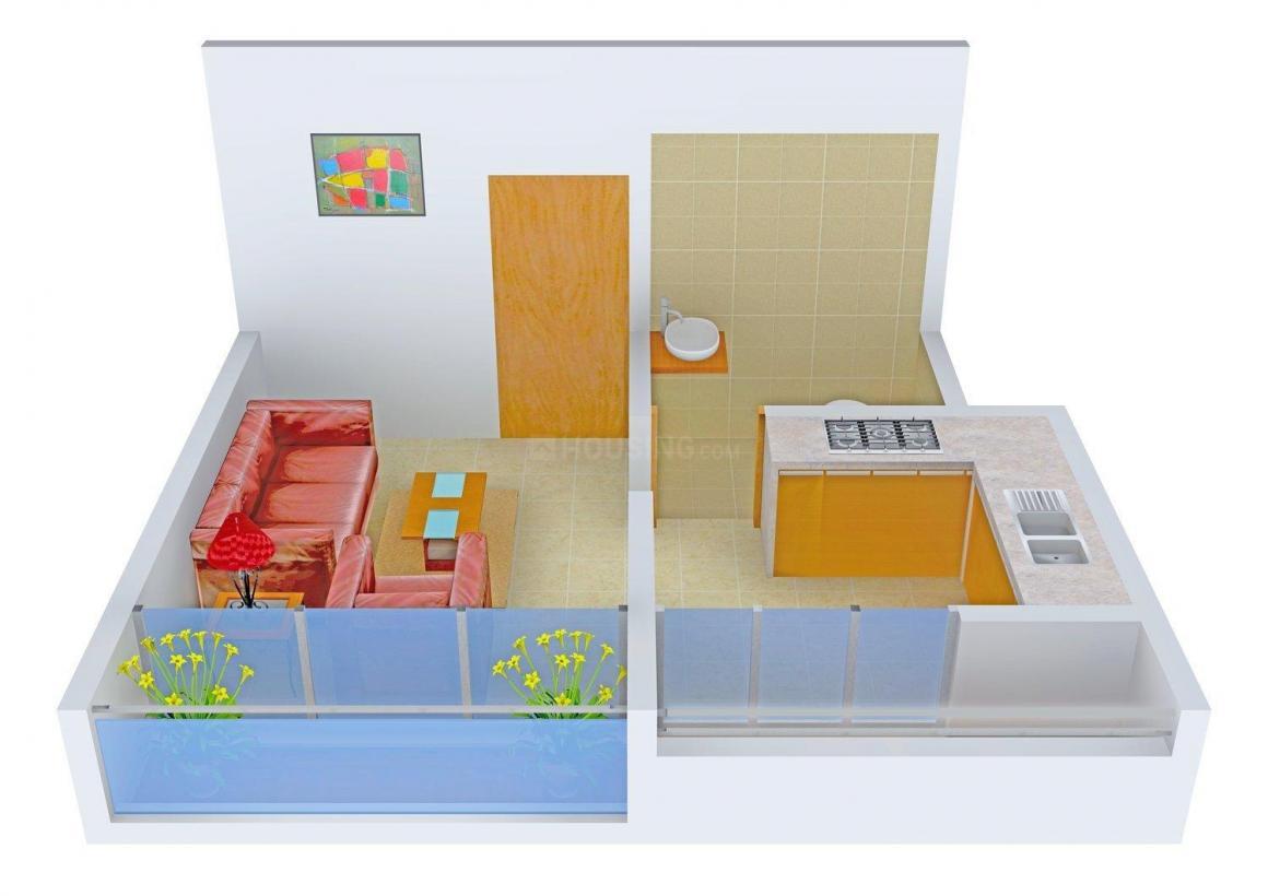 Floor Plan Image of 425.0 - 875.0 Sq.ft 1 RK Apartment for buy in K.K Gokul Dham