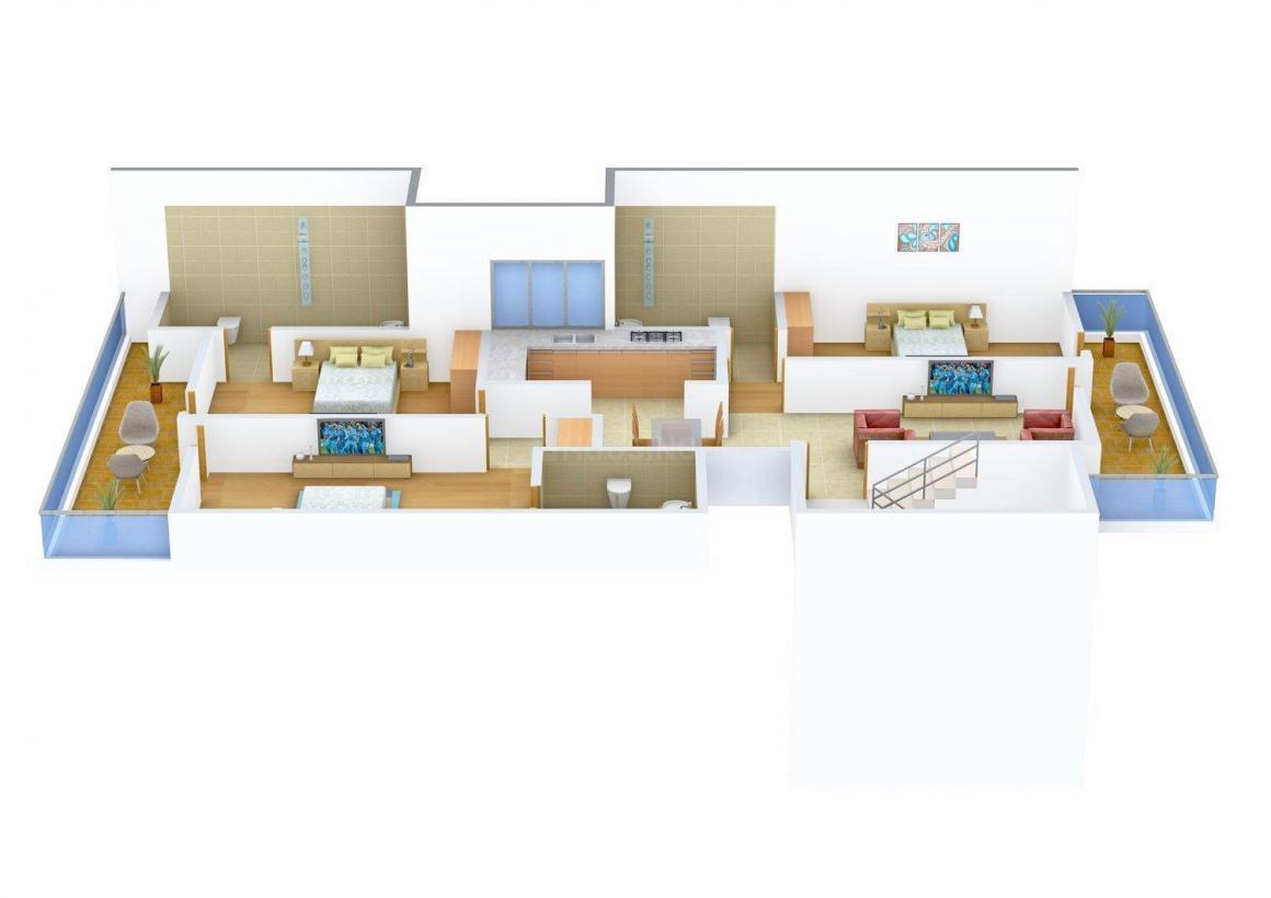 Floor Plan Image of 1500 - 3000 Sq.ft 3 BHK Independent Floor for buy in Raghav Floors - 2
