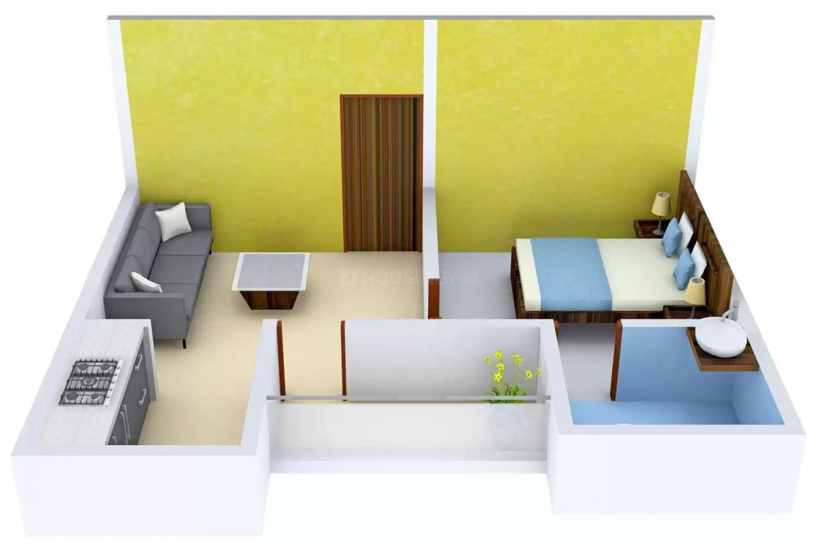 Radhey Krishna Apartment Floor Plan: 1 BHK Unit with Built up area of 510 sq.ft 1