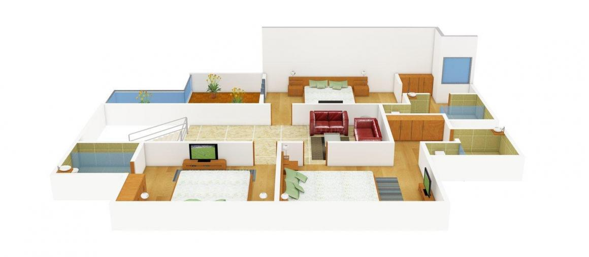 Shalimar Sky Garden Floor Plan: 4 BHK Unit with Built up area of 2865 sq.ft 1