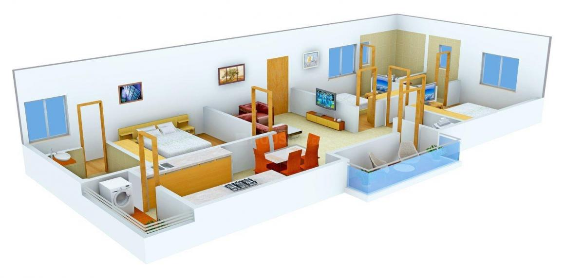 Floor Plan Image of 1515 - 1630 Sq.ft 3 BHK Apartment for buy in V Ventures