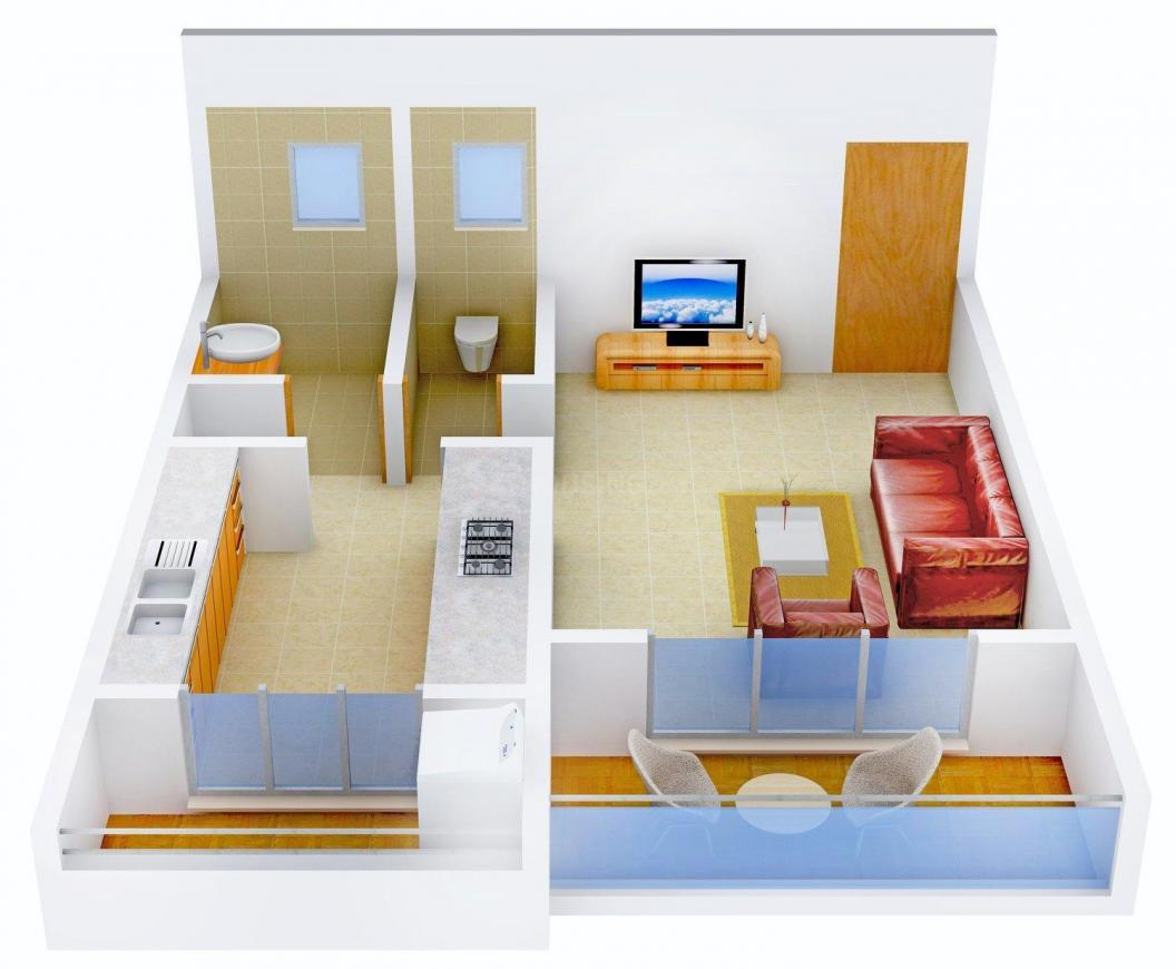 Floor Plan Image of 443.0 - 948.0 Sq.ft 1 RK Apartment for buy in Happy Piccadilly Palms