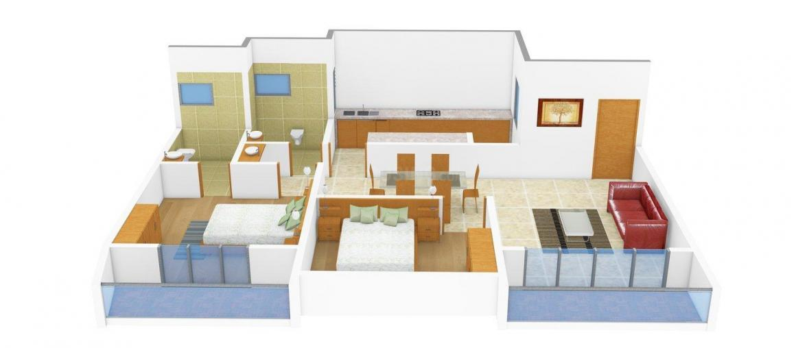 Floor Plan Image of 1195 - 1515 Sq.ft 2 BHK Apartment for buy in Mohtisham Cottage