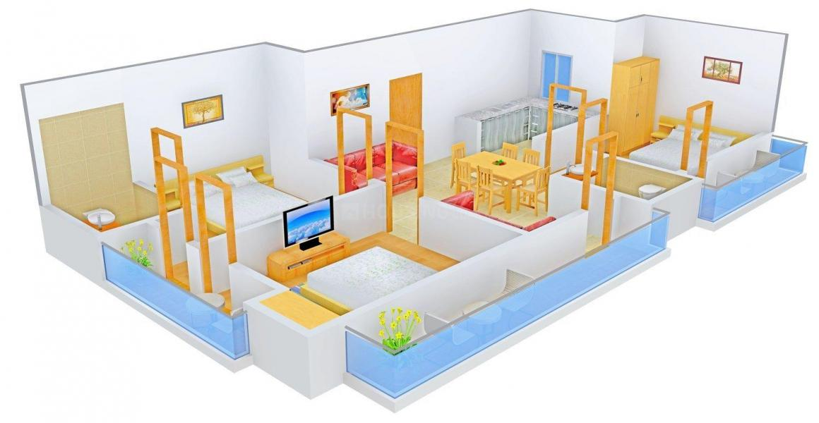 Floor Plan Image of 0 - 990.0 Sq.ft 3 BHK Independent Floor for buy in Yadav Ganesh Home 1