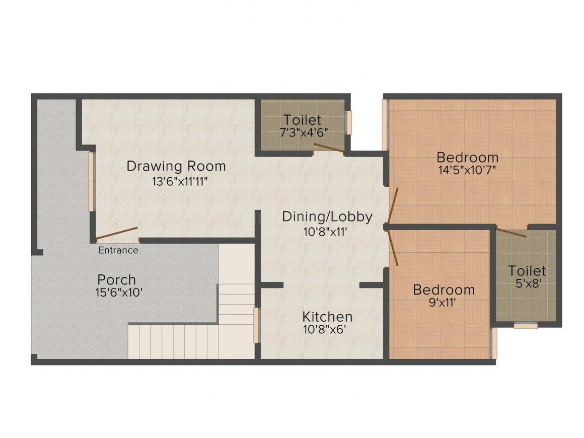 Floor Plan Image of 0 - 1400.0 Sq.ft 3 BHK Villa for buy in Iconic Mahadev Villa