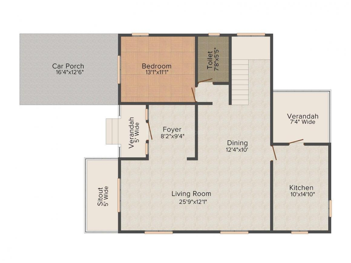 Floor Plan Image of 0 - 2508 Sq.ft 4 BHK Villa for buy in Nanu Sapana Emerald