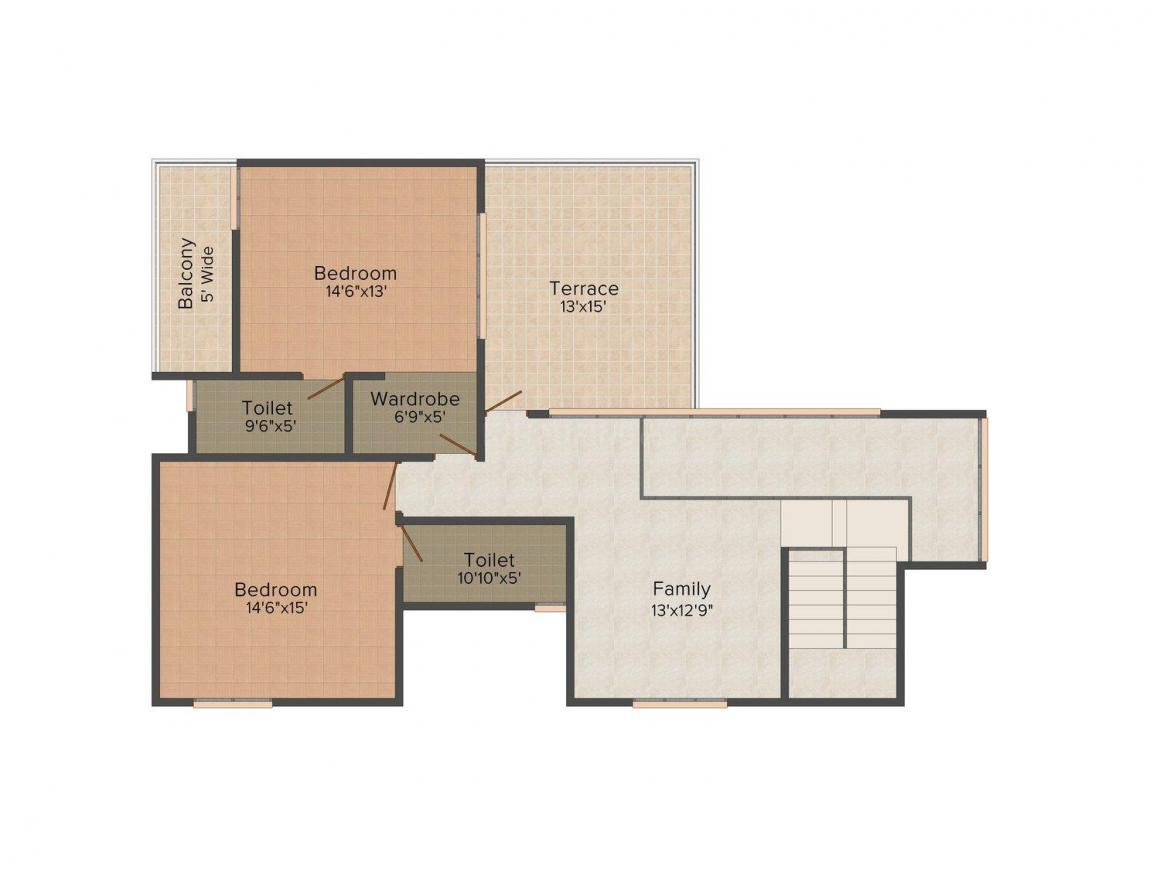 Floor Plan Image of 3000.0 - 5000.0 Sq.ft 3.5 BHK Villa for buy in Confident Gold Coast