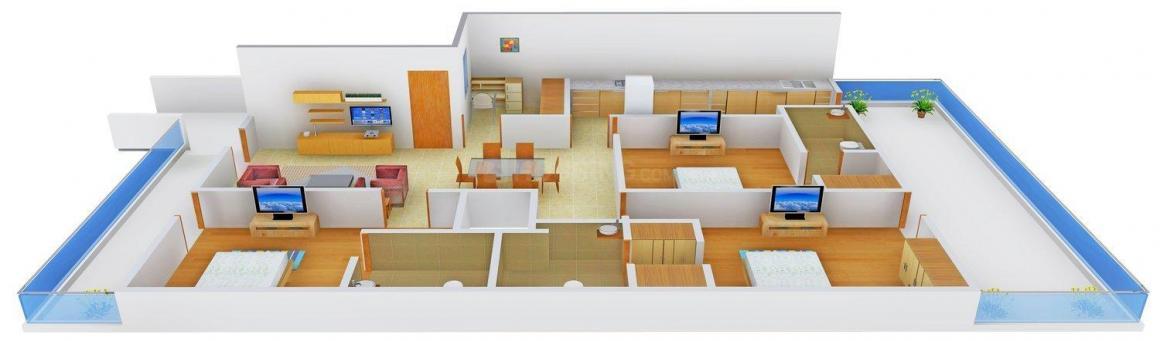 Floor Plan Image of 0 - 2700.0 Sq.ft 3 BHK Independent Floor for buy in Chanakya Floors 1