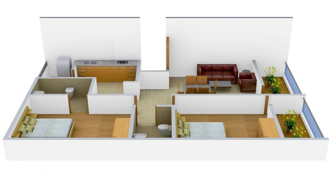 Floor Plan Image of 0 - 1000.0 Sq.ft 2 BHK Apartment for buy in TGS Chicago