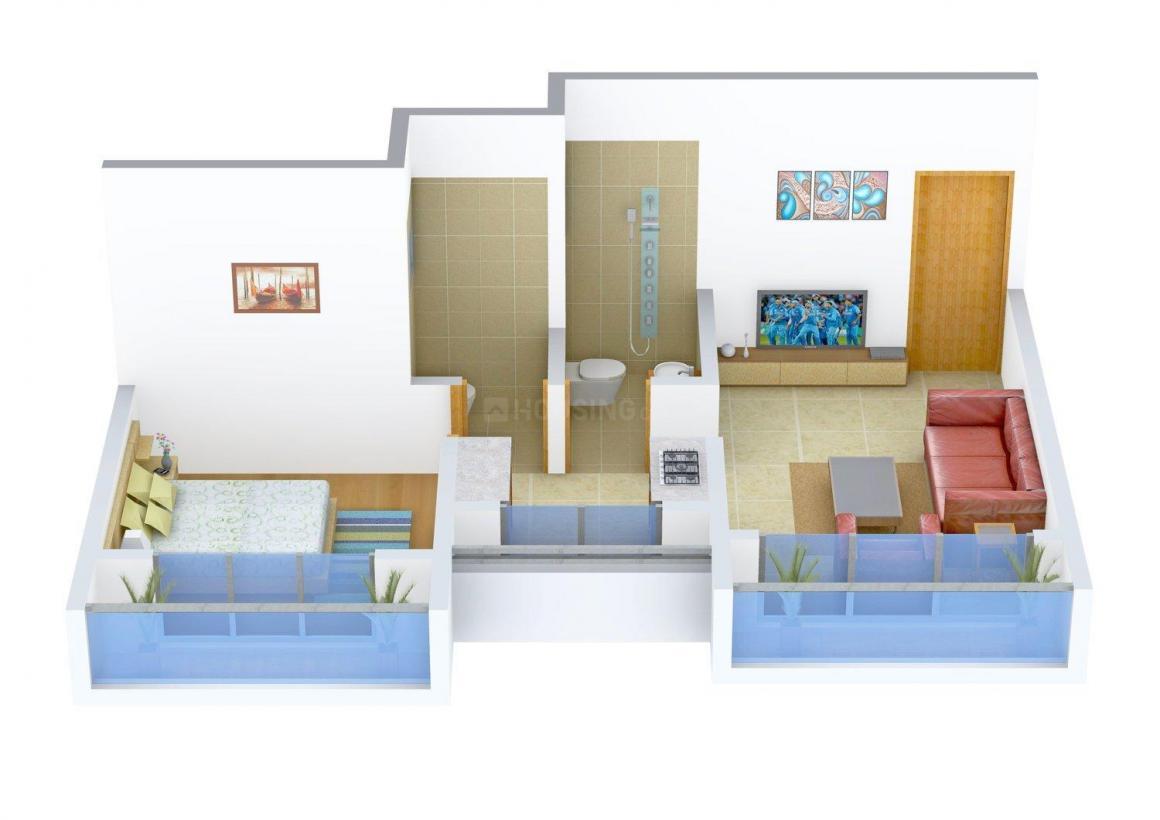 Floor Plan Image of 0 - 580 Sq.ft 1 BHK Apartment for buy in Raj Krishna Horizon Phase - 2