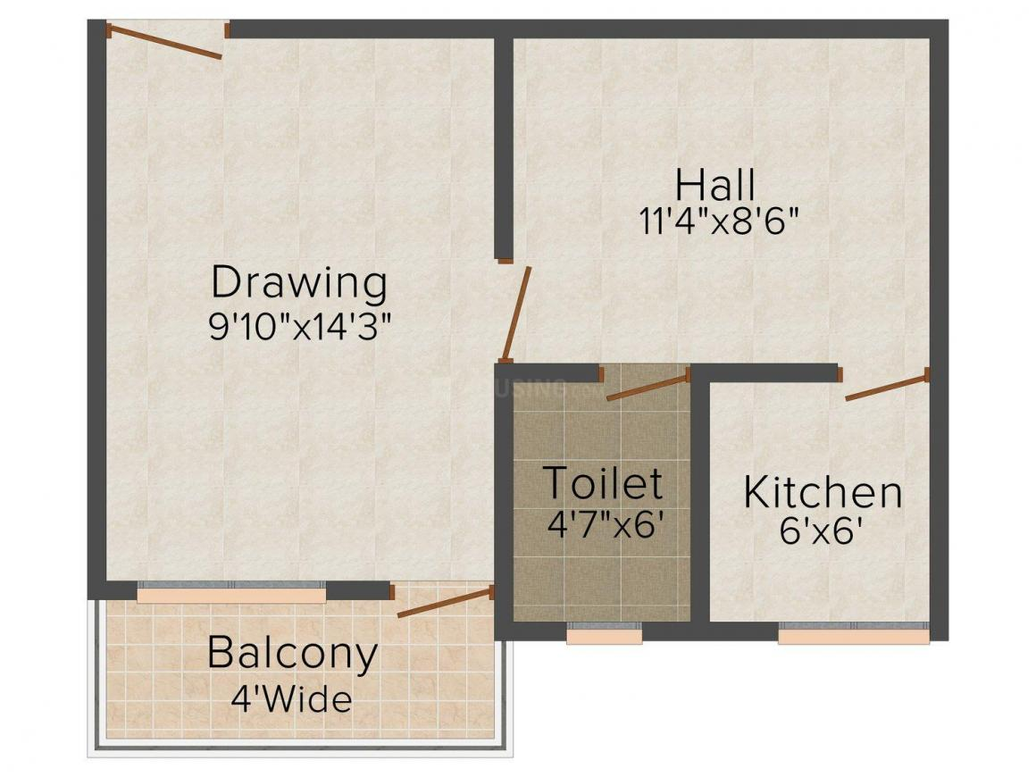 Floor Plan Image of 560 - 1300 Sq.ft 1 BHK Apartment for buy in Magalam Tower