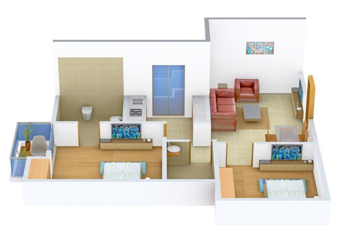 Floor Plan Image of 910 - 1610 Sq.ft 2 BHK Apartment for buy in Rudra Sangam