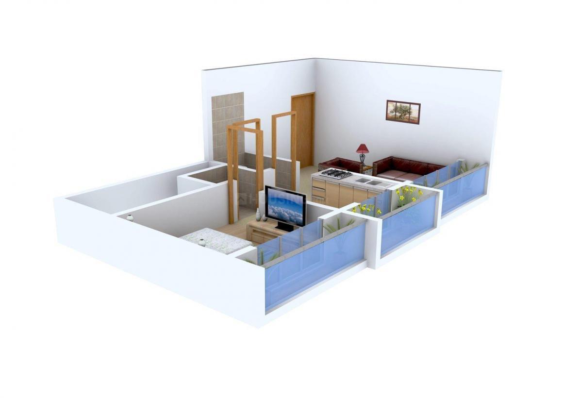 Shalibhadra Amora Floor Plan: 1 BHK Unit with Built up area of 630 sq.ft 2