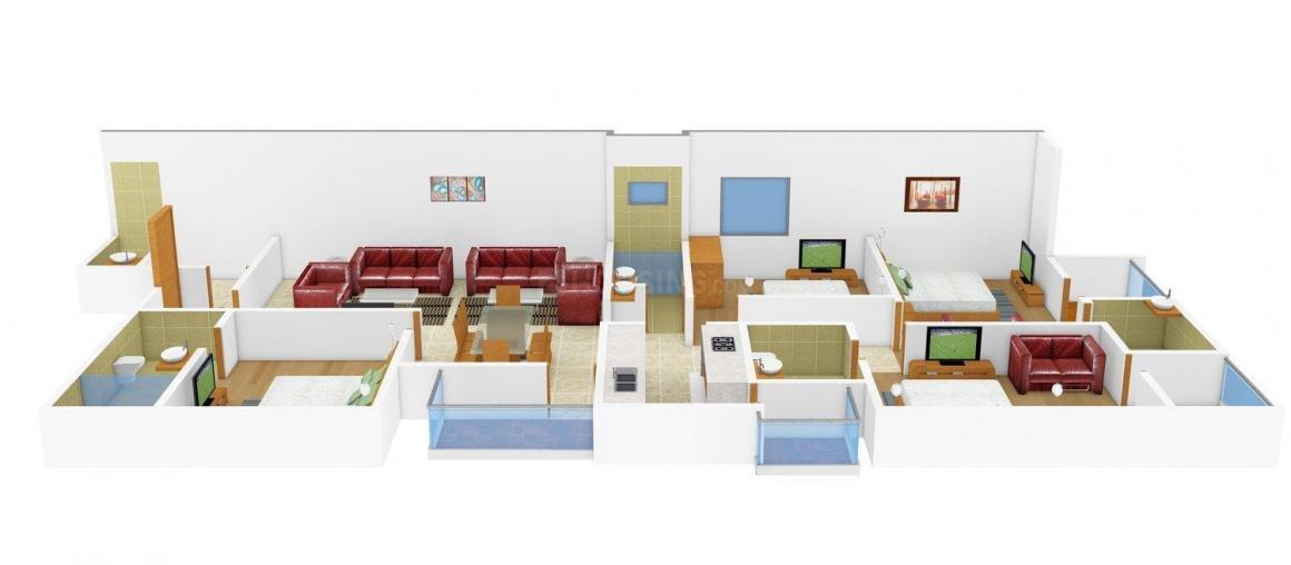 Floor Plan Image of 0 - 2527.0 Sq.ft 4 BHK Apartment for buy in BL Navkaar Residency