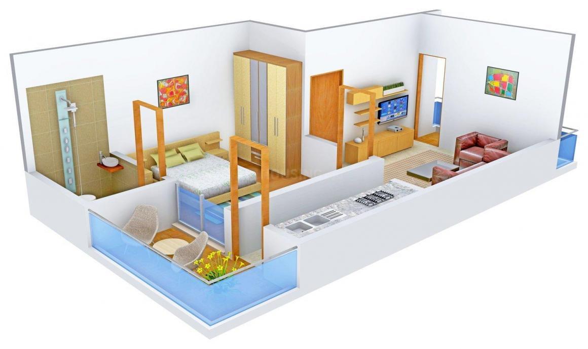 Floor Plan Image of 0 - 950.0 Sq.ft 1 BHK Apartment for buy in Gambhir Housing Sankriti