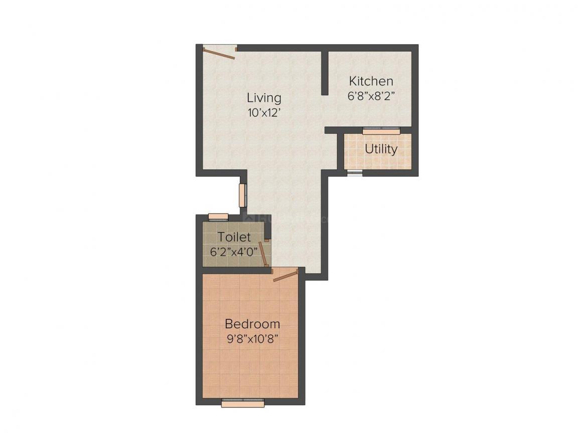 Floor Plan Image of 474.0 - 792.0 Sq.ft 1 BHK Independent Floor for buy in Antony's Pallazo
