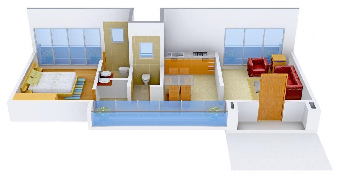 Floor Plan Image of 688.0 - 1863.0 Sq.ft 1 BHK Villa for buy in Flock Homes