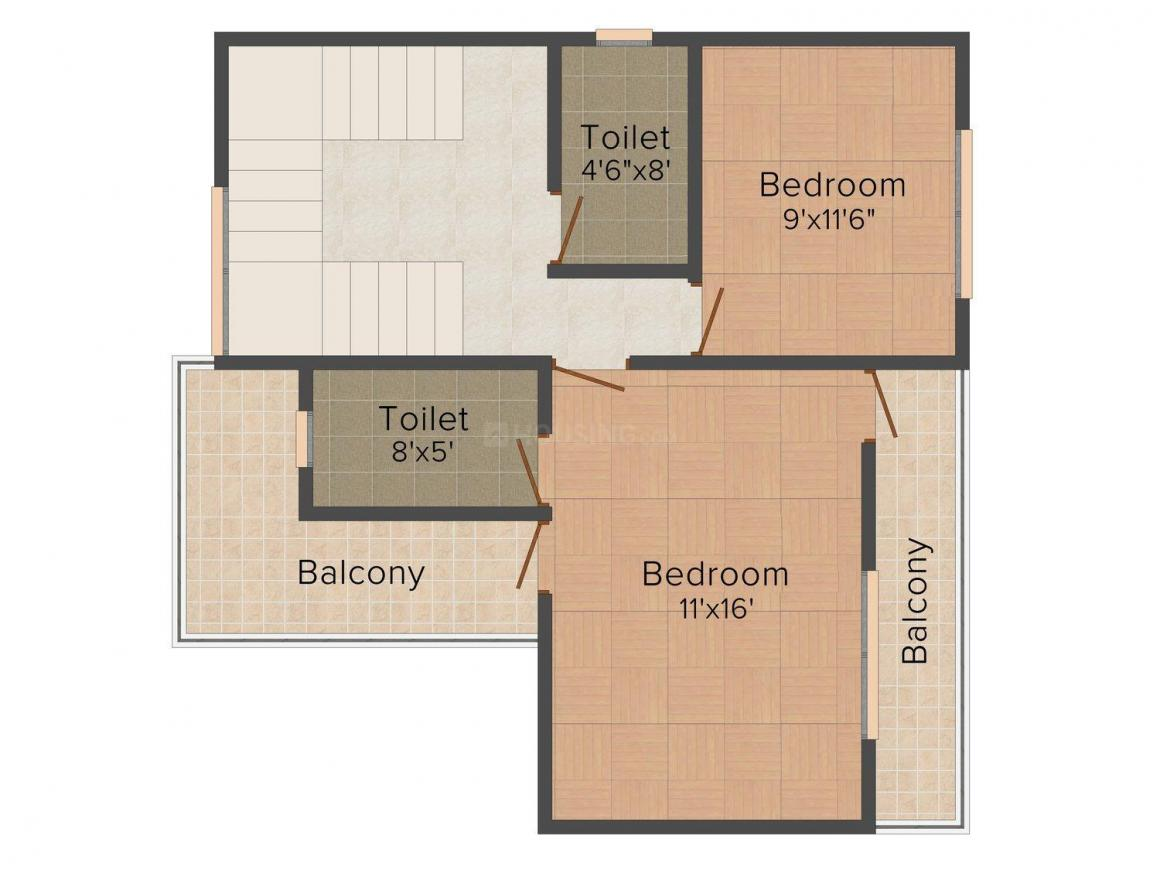 Floor Plan Image of 0 - 1282 Sq.ft 2 BHK Villa for buy in Wadhwa Regalo