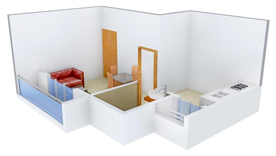 Floor Plan Image of 405.0 - 880.0 Sq.ft 1 RK Apartment for buy in Vishal Heights