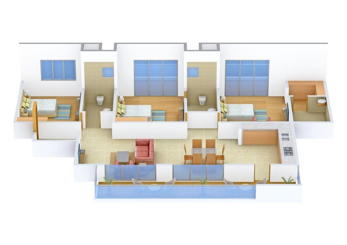 Floor Plan Image of 0 - 1857 Sq.ft 3 BHK Apartment for buy in Varsha Shrinath Darshan